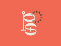 Psychic Stitch logo pink embroidery brand identity branding