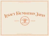 Legacy Foundation Japan brand identity branding illustration color palette icon logo
