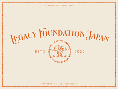 Legacy Foundation Japan brand identity branding illustration color palette icon logo