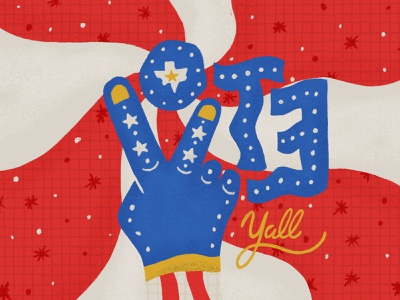 Vote Yall politics peace texas illustration election vote