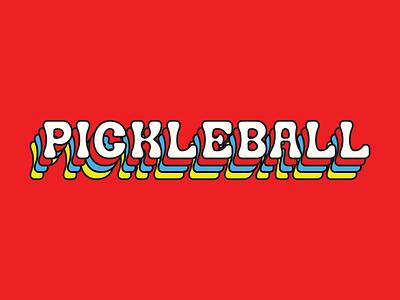 NBB Pickleball  branding typography vector va pickle pickleball illustration
