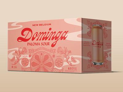 Dominga Paloma Sour new belgium grapefruit texas beer graphic design design paloma illo illustration beer packaging packaging