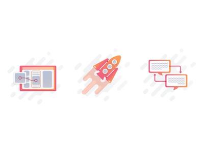 Prott Icons feedback prototype spaceship yellow pink texture icons