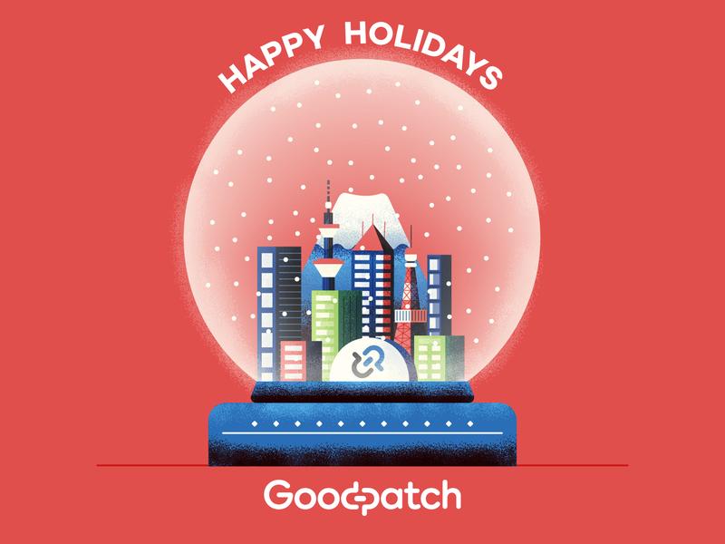 Around the Snow Globe new years holidays snow goodpatch tokyo snow globe illustration texture vector