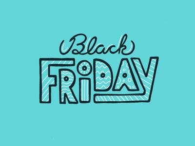 Happy Friday letters hand drawn hand lettering bhm typography friday black procreate illustration type blue black friday