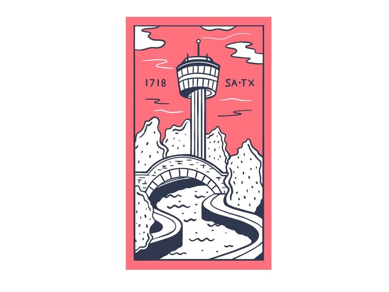 San Antonio illustration procreate dribbbleweeklywarmup home texas san antonio