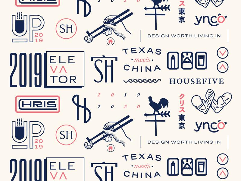 2019 Lineup logotype logos brand design 2019 illustraion branding flash sheet