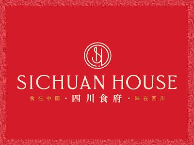 Sichuan House Branding branding design chinese restaurant restaurant branding brand identity logo