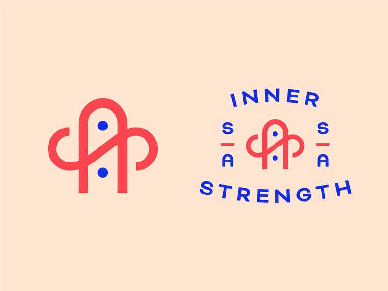 R I P Stephanie Ando Logo logotype type design brand design brand identity logo