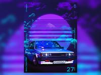 Toyota Carina poster.