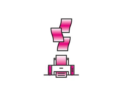 Printer magenta gradient lineart printer
