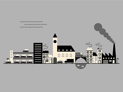 Village pollution smoke grey factory village pollution
