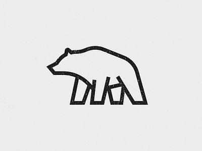 Bear alaska sharp line icon grizzly bear