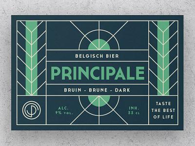 Principale Label02 art deco green rhye lines belgian label beer