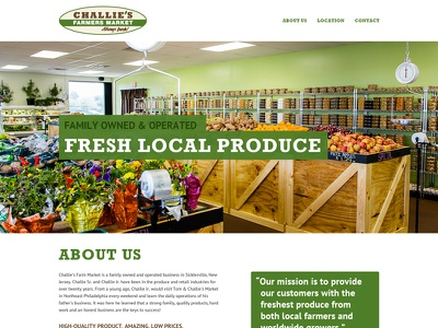 Challie's One-Page rockwell web design web one page produce clean pt sans