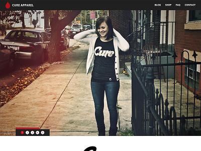 Cure Apparel Site v2 website web simple droid sans desktop