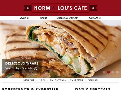 Cafe Site web light edmondsans clean raleway cafe