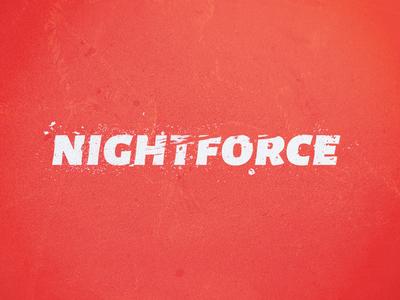 Nightforce Logo grunge logo