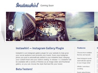 Instawhirl Coming Soon Page
