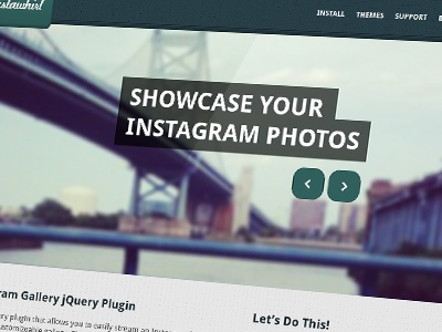 Instawhirl Home Page homepage website web texture simple plugin