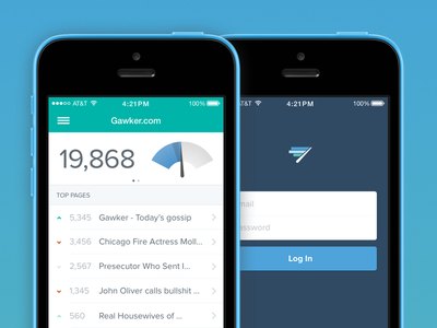 Chartbeat App - Visual refresh chartbeat icon ios7 app mobile