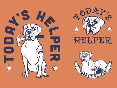 Today's Helper Logo dogs logo