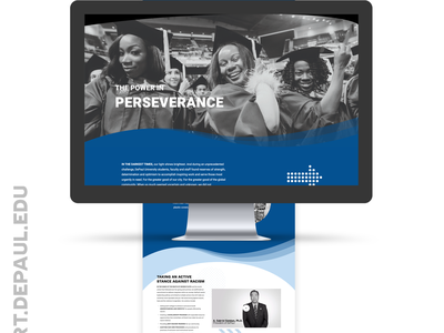 WordPress, DePaul University 2020 President's Report ui wordpress web design