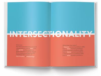 Intersectionality: Book Design layout girlpower womensrights book design
