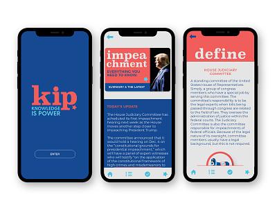 Political Learning App UX/UI Design