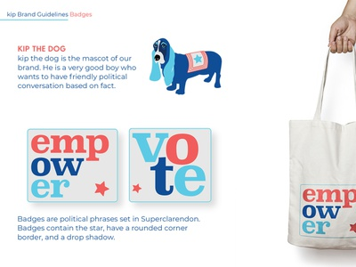Political Learning App, kip, Branding
