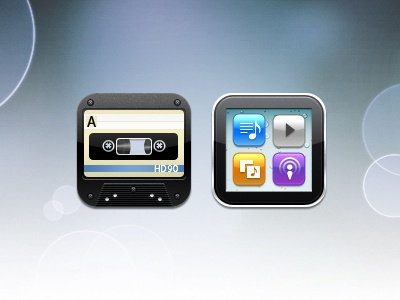 May - Music/iPod icons icon icons tape cassette music ipod iphone nano may app ios