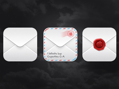 May - Mail icons mail envelope wax stamp stripes ios app icon icons may iphone