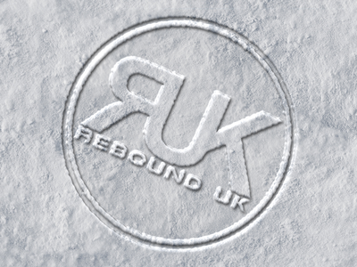Rebound UK snow imprinted logo snow logo
