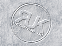 Rebound UK snow imprinted logo