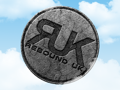 Rebound UK concrete logo stone concrete logo