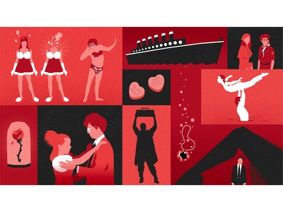 Movie Lover moonrise kingdom say anything the graduate dirty dancing napoleon dynamite beauty and the beast austin powers valentine titanic illustration love movie