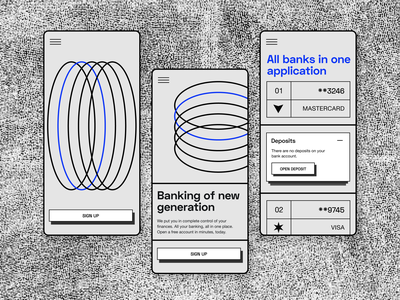 Mobile Banking App Concept fintech branding fintech brutalism bank app bank card mobile ui investments bank finance app banking app illustration branding design ui dashboard app mobile