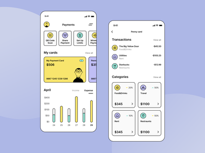 Yet Another Great Online Banking App Concept online banking fintech neobank banking design ui app mobile ios