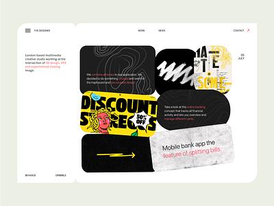 Design Agency Portfolio Reinvented. website landing page design landing page agency branding 3d vfx graphic design portfolio web design