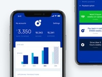 Banking app dashboard for shared economy era