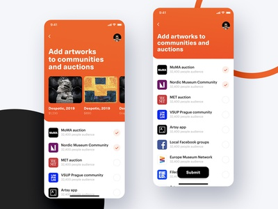 iOS app for American museums and artists communities