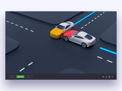 Collision animation car automotive cars dark ux  ui ux uber accident collision motion animation