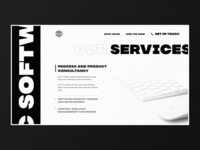 Software engineering company landing page