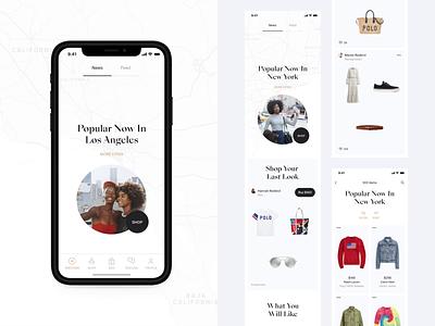 Fashion app discovery clean ios mobile dark white fashion photos feed promo instagram stories