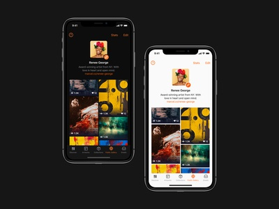 Dark theme for an app for American museums and artists