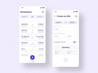 Banking app – currency exchange dashboard