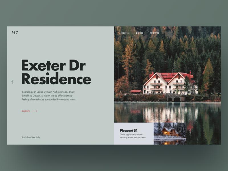 Ö landing page grid block green real estate residence promo landing website