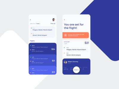Flights Booking App Concept