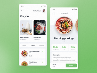 Grocery Store Mobile App grocery online grocery store grocery food app grocery app ui design cards app mobile clean ios white