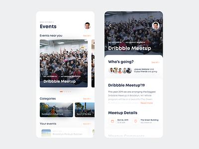 Meetup Mobile App info meet up meeting app news dashboard white mobile app ios meetups meetup meetings